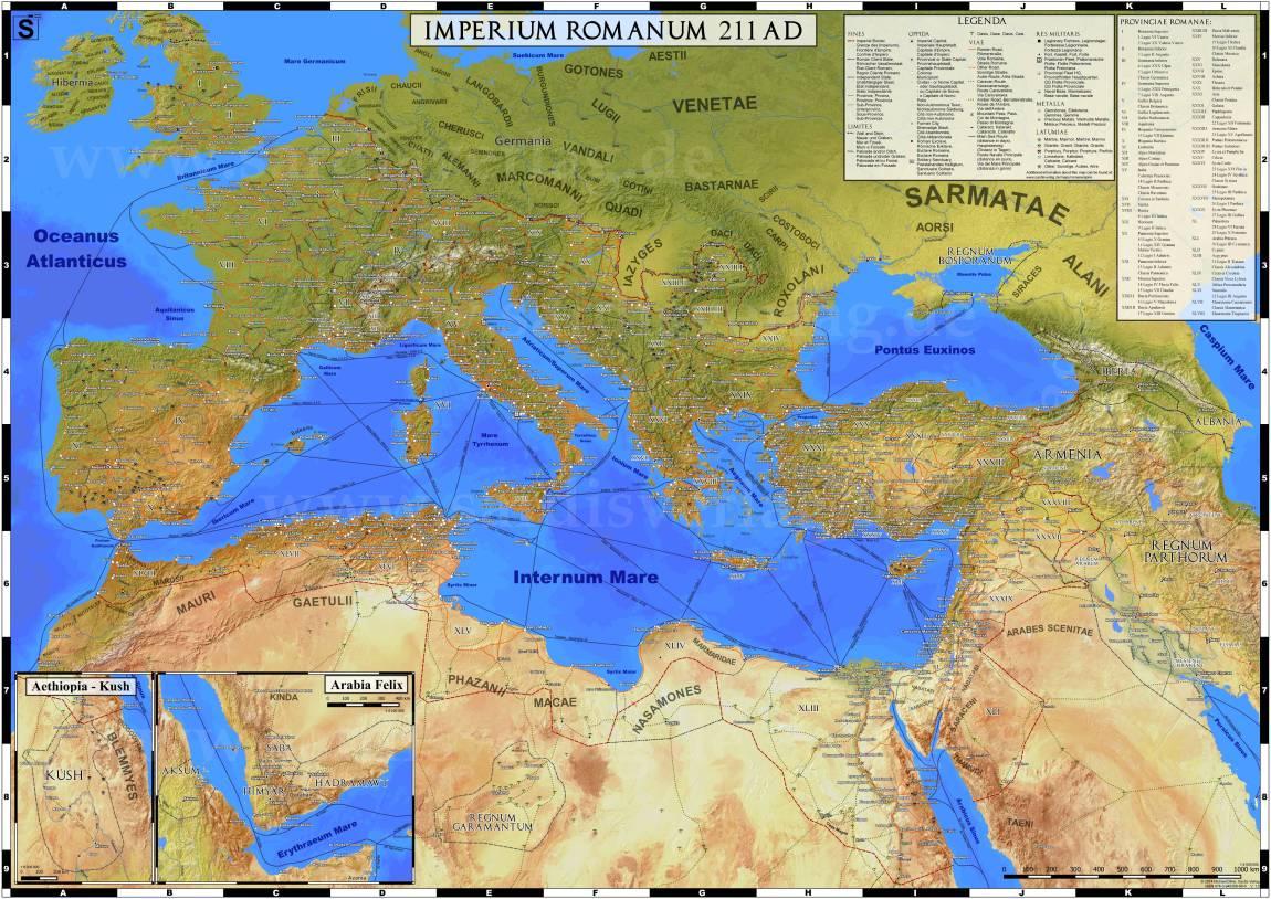 Dacia în anul 211 d.Hr.
