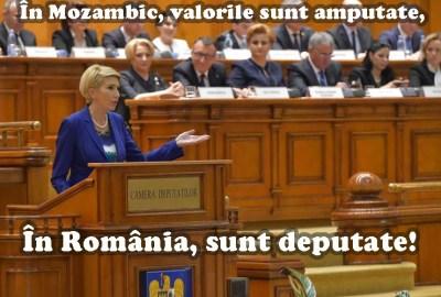 Valorile sunt amputate… În România, sunt deputate!