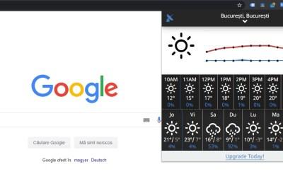 Extensie şi aplicaţie pentru vreme (meteo) în Google Chrome