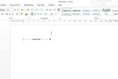Cum se șterge o secțiune dintr-un document Word?