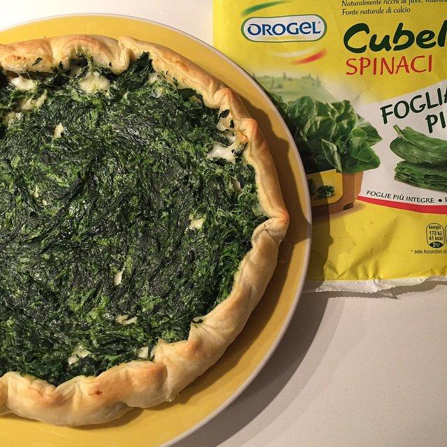 torta salata con spinaci Orogel