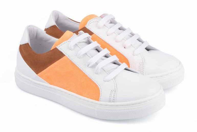 Gallucci SS17 stringata bicolor arancio