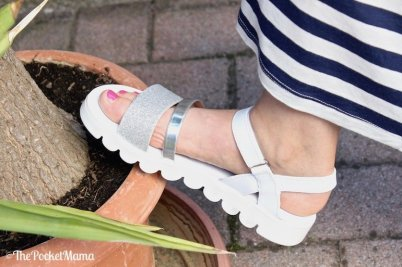 sandali melania con doppia fascia 2017