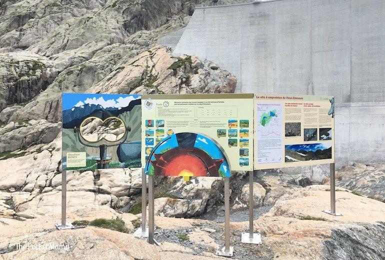 storia dei dinosauri Lago di Emosson