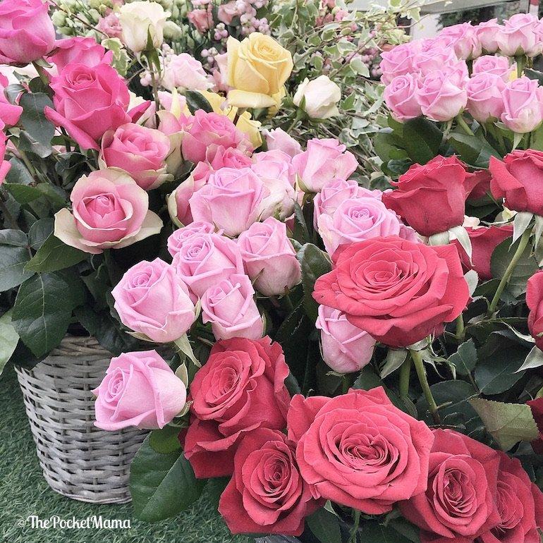 creare un centrotavola di rose