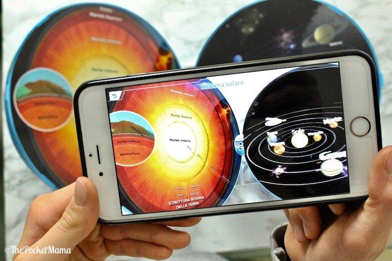 realtà aumentata sistema solare Smart Globe Explorer AR