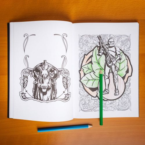 star wars art therapy colouring book 2