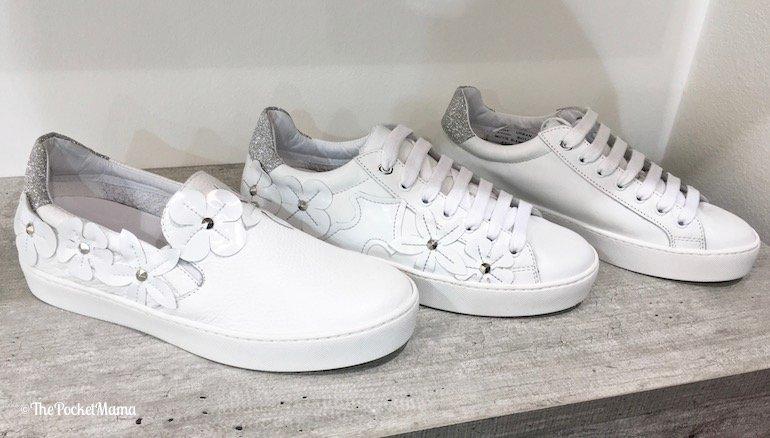 sneakers con applicazioni floreali Elma Milani SS 2018