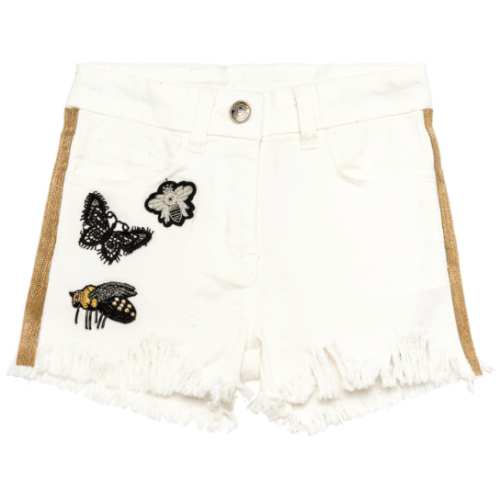 shorts denim patch gold Monnalisa SS 2018
