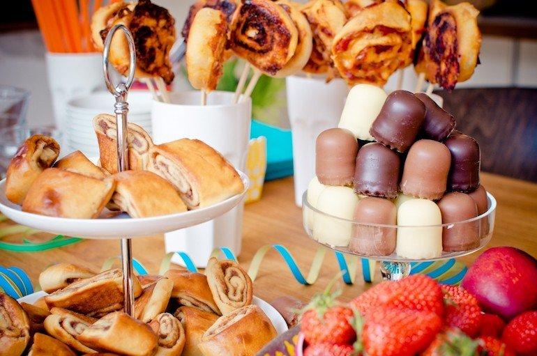 buffet di compleanno in casa