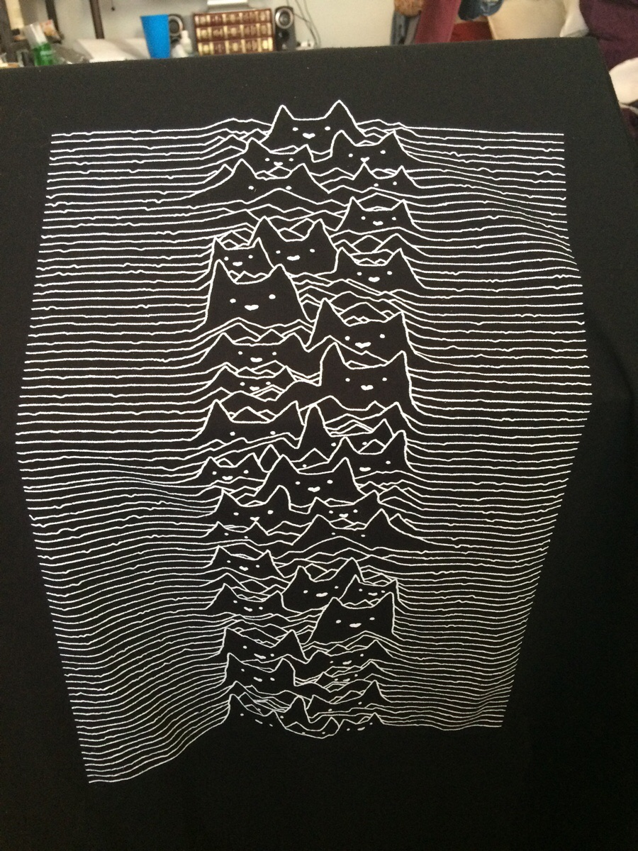 Finally A T Shirt For Fans Of Both Joy Division And Cats