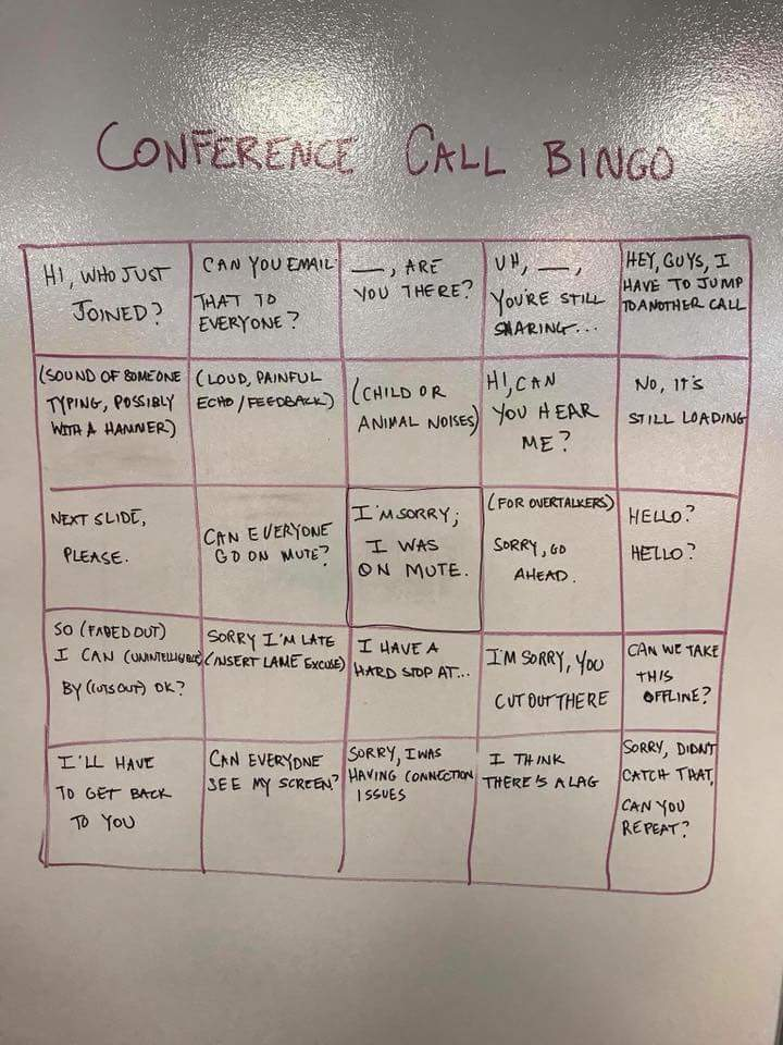 Anyone For A Game Of Conference Call Bingo The Poke
