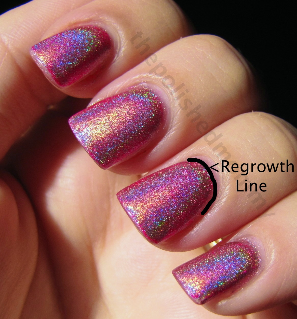 Using A Super Fine File Or Grit Buffer Gently Buff The Regrowth Line So It Blends Into Natural Nail