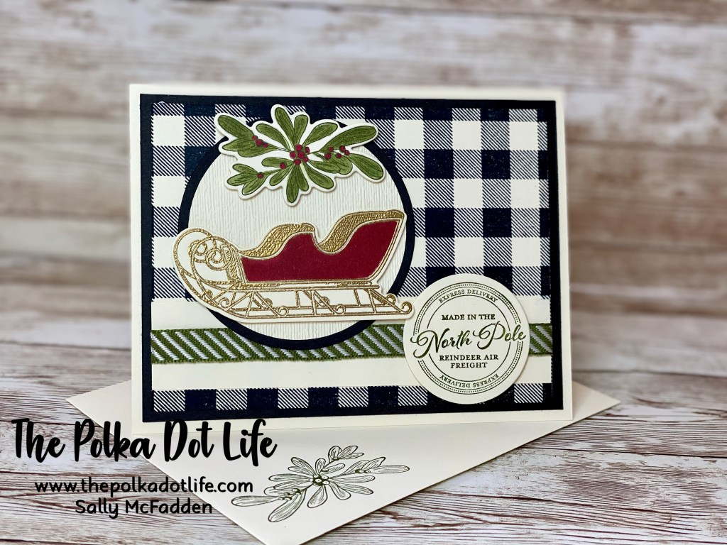 Stampin' Up Wishes & Wonder image of sleigh