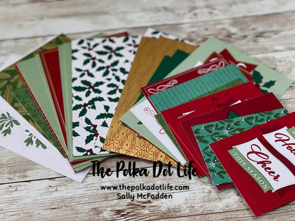 Elements from the Stampin Up Wonder of the Season Memories & More Card Pack.
