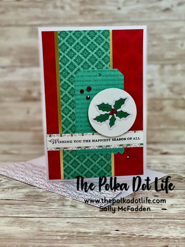 A greeting card that is made with the Wonder of the Season Memories & More Card Pack by Stampin Up.