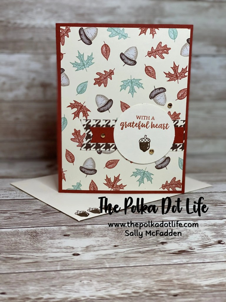 A fall card using Stampin Up products.