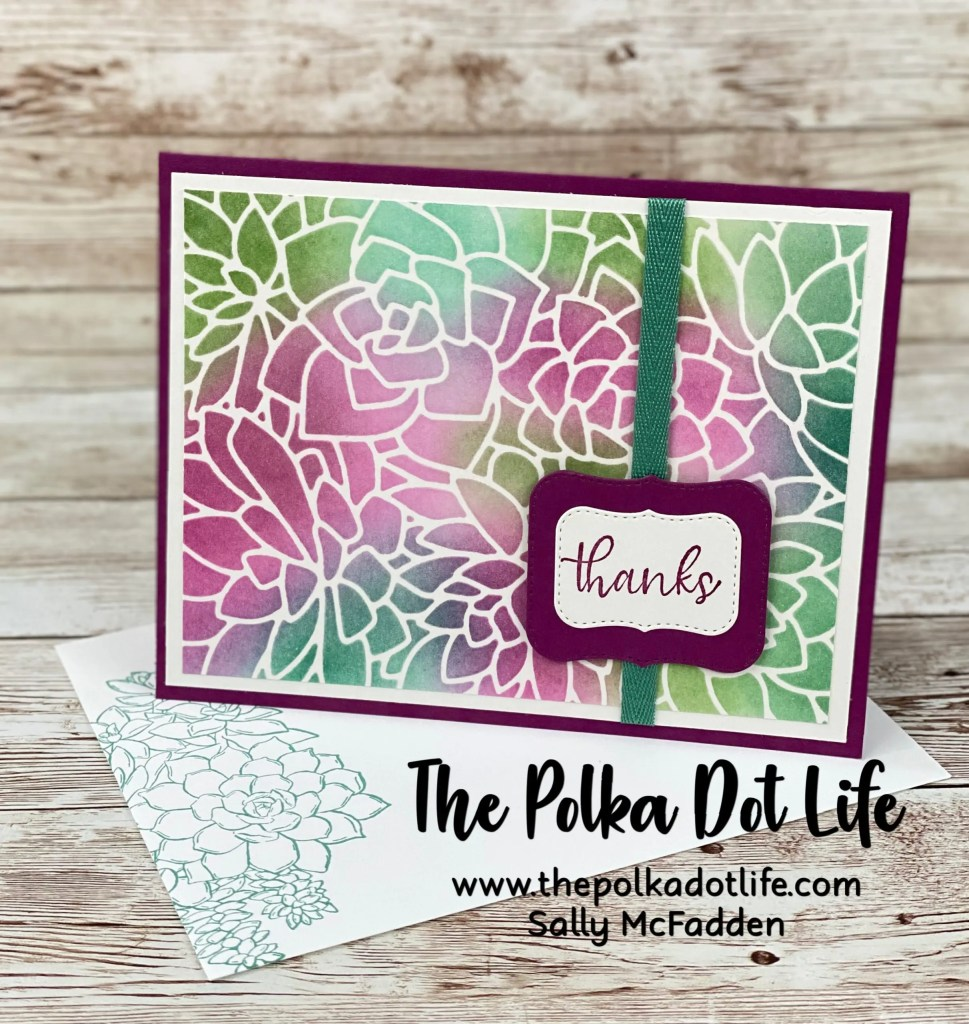 This is a greeting card made using the Simply Succulents Bundle by Stampin' Up.