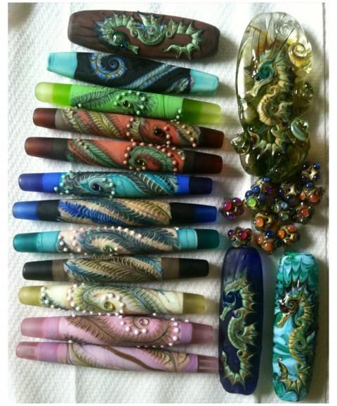 Kimberly Affleck dragon feather beads