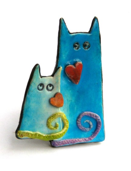 chifonie cat and kitten pin 430x563 - Fuzzy Feelings