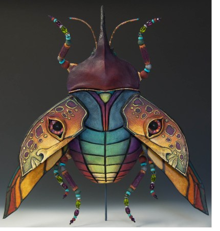 Mary Hager scarab beetle 430x452 - Faces Within