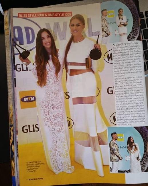 Featured in Beautiful People Magazine with Fashion Style Icon winner Ramon Filip.
