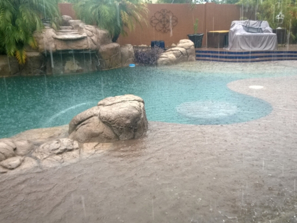 Pool Overflowing Rain