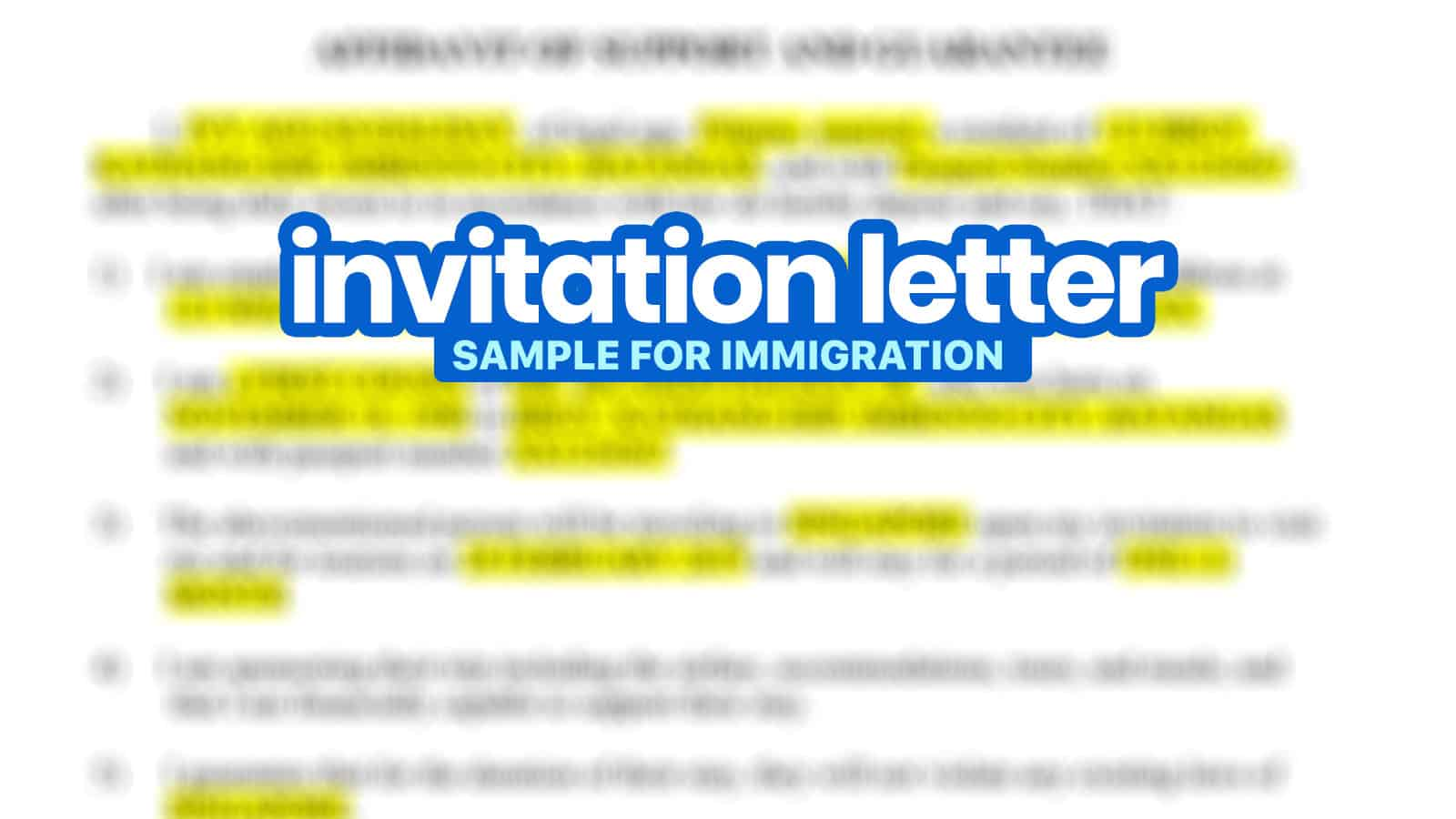 sample invitation letter for