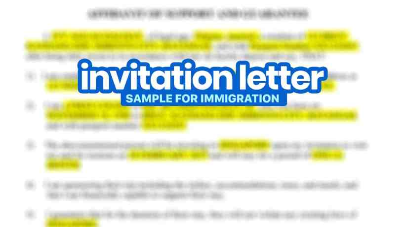 Sample Invitation Letter For Immigration Affidavit Of Support And Guarantee