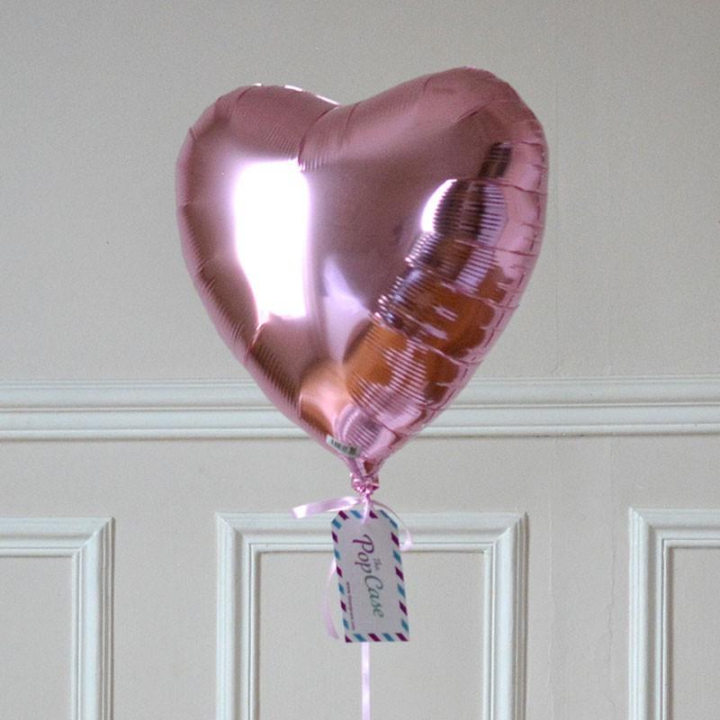 Livraison Dun Ballon Cadeau Coeur Rose Pastel Gonfl L