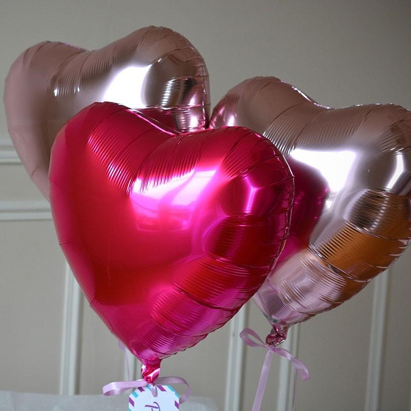 Bouquet De Ballon Coeur Rose