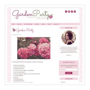 GardenParty Ready2Go WordPress Blog