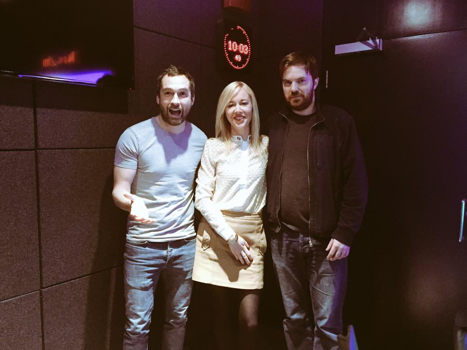 Fiona with 2FM presenters on Breakfast Republic