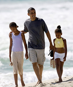 Obama will enjoy a 13 day Hawaiian Holiday repleat with a corps of jouralists, payed for with your tax-dollars.