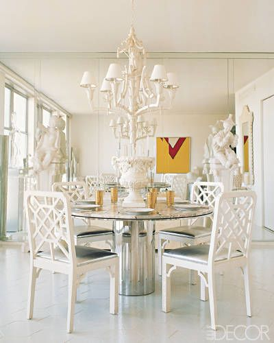 Dining Rooms From Elle Decor: The Potted Boxwood