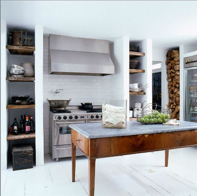 Elle Decor Kitchens: The Potted Boxwood
