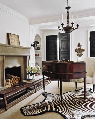 Zebra Rug Interior Design: The Potted Boxwood