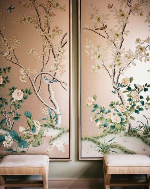 Chinoiserie Panels The Potted Boxwood