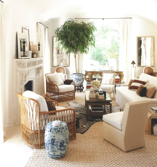 Mark D Sikes Interiors with House Plant