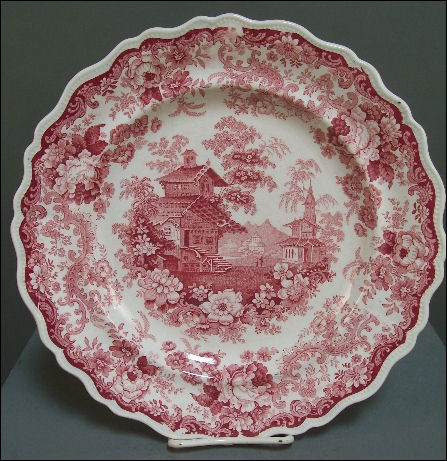 Romantic Staffordshire transferware plate by John Swift in the