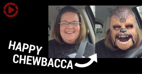 Happy chewbacca ad