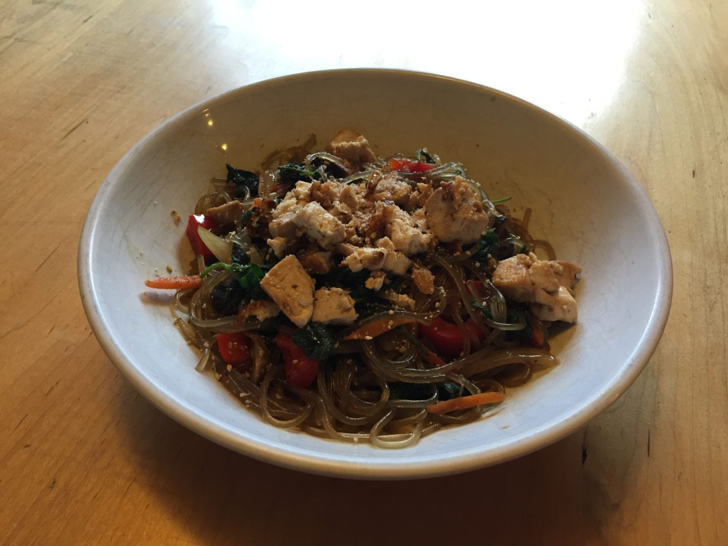Vegetarian Japchae With Fresh Nettle