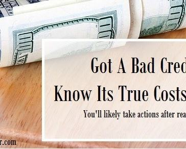 True Costs Of A Bad Credit