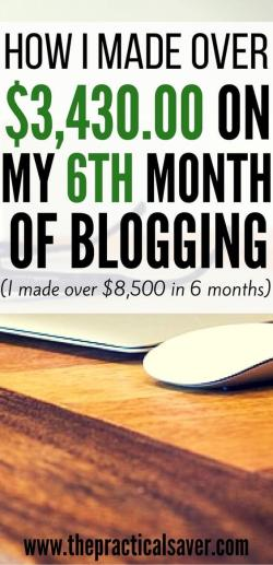 how i made over 3430 on my 6th month of blogging
