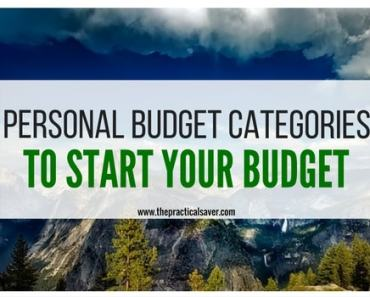 Personal Budget Categories to Start Your Budget