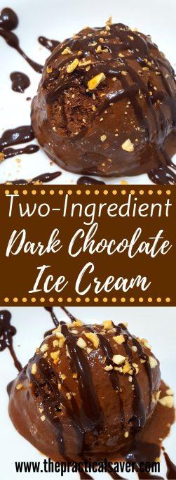 Two-Ingredient Dark Chocolate Ice Cream