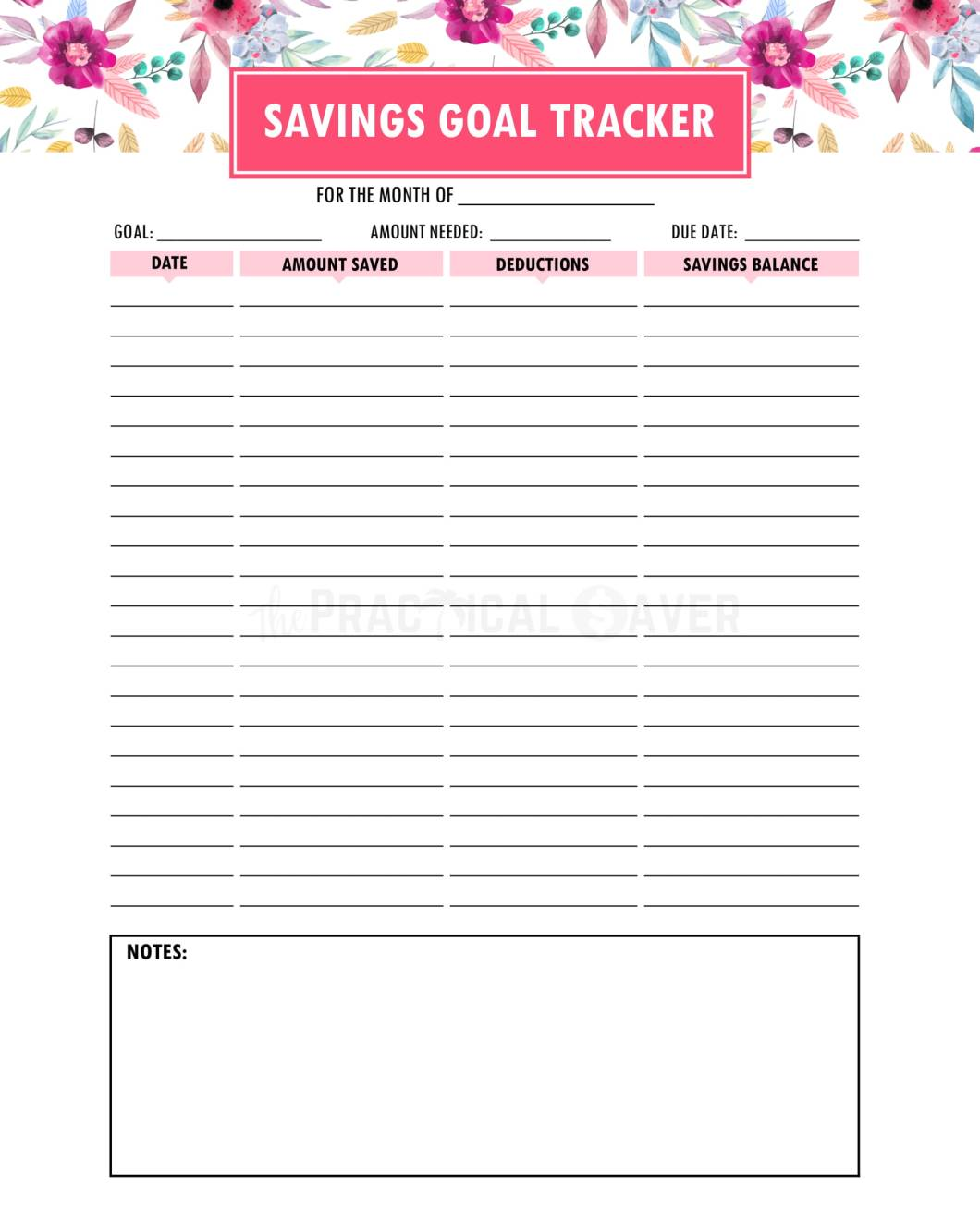 Budget Binder Printables The Practical Saver