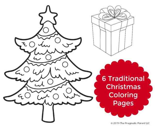 30 Traditional Christmas Coloring Pages for Kids