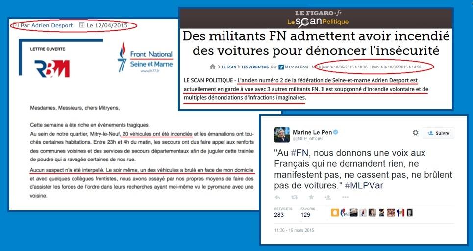 Adrien Desport, ancien numéro 2 du FN Seine-et-Marne et les voitures brûlées...