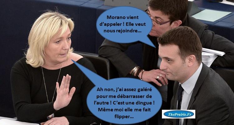 Marine Le Pen et Florian Philippot - Morano